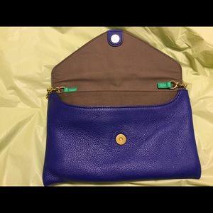 J. Crew Bags - Envelope  bag from J. Crew. Blue & green. NWOTs